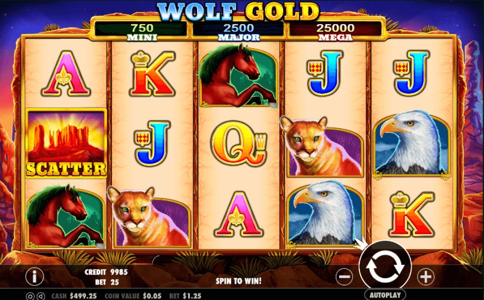 Wolf Gold Slot Vorschau